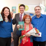 Claire Meaney (WHAT), Dr Sean Leavey, author Liz McCue and artist Philip Cullen.